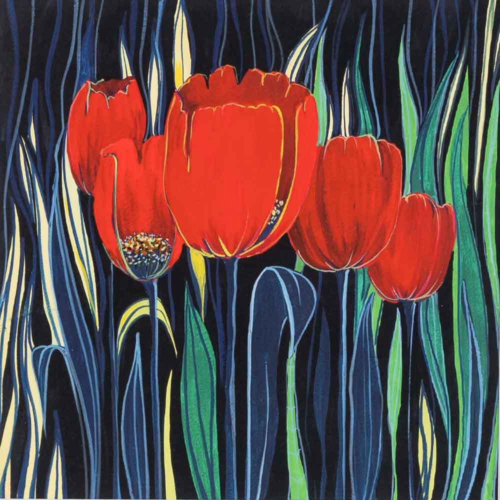 Tulips on Print